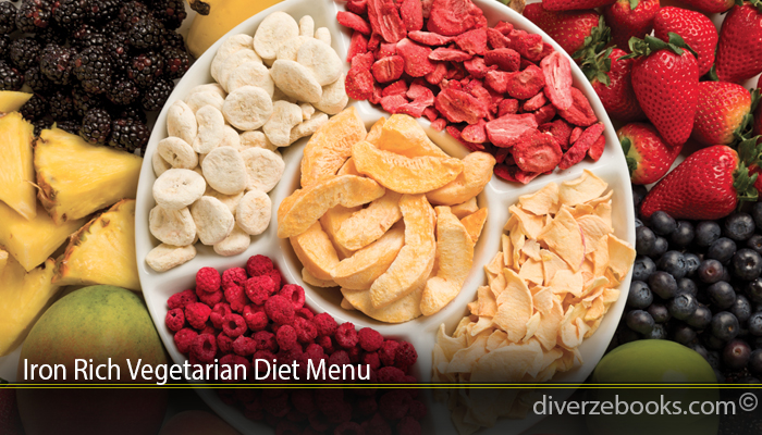 Iron Rich Vegetarian Diet Menu